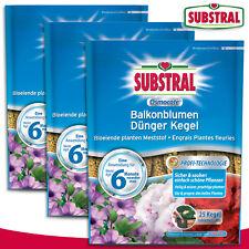 Substral 3 x 115 g Osmocote Balkonblumen Dünger Kegel (à 25 Stück)