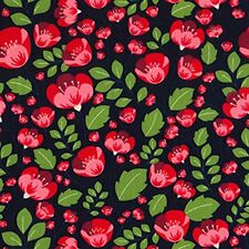 Multiple Sizes 100/% Cotton White Field Nutex Fabric Poppies