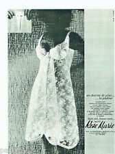 PUBLICITE ADVERTISING 056  1965  Rose-Marie  lingerie fond de robe