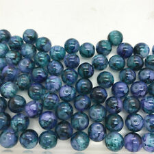 DIY 50 Pcs 6mm Loose Beads Round Spacer Double Colors Glass Jewelry making #11