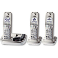 Panasonic Expandable DECT 6.0 Cordless Phone with 3 Handsets | KX-TGD223N