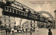 Barmen-Elberfeld-Vohwinkel, Schwebahn, Viererzug am Kaiserplatz Vohwinkel, 1908
