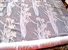 """17.6yd BOLT- Italian Import CURTAIN FABRIC-""""IRIS FLORAL""""-off-white PRINTED SHEER"""