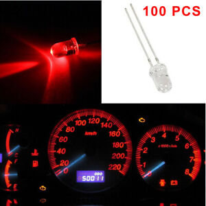 100x Red Mini LED Bulbs Instrument Cluster Gauge Panel Dash Based LED Lights 5mm