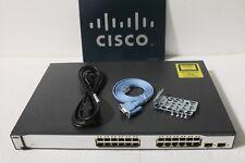 Cisco WS-C3750-24PS-S 24 Ports Lyr 3 Switch latest ios 1 year Wrnty