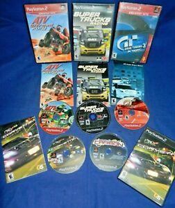 PS2;Gran Turismo 3 A-Spec,Super Trucks Racing,ATV Offroad Fury,Corvette,w/Mans,+