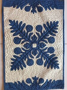 "hawaiian handmade quilt floor mat 30""/20 w/ free shipping"