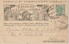 EDITORIA CEDOLA DI COMMISSIONE LIBRARIA RASSEGNA DEL LAZIO E DELL'UMBRIA ROMA