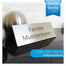Edelstahl Briefkastenschild Türschild Klingelschild inkl. Gravur 100x40 mm (JL)