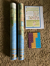 Carcassonne Maps - USA EAST, USA WEST + map chips and xtra meeples upon request