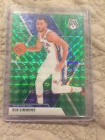 2019-20 Panini MOSAIC Basketball #149 Ben Simmons SP GREEN PRIZM NM