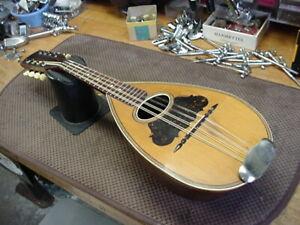 Vintage A.C. Fairbanks  bowl back mandolin Boston  No.30  LOOK