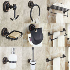 Black Oil Rubbed Bronze Bathroom Accessories Set Bath Hardware Towel Bar ee015