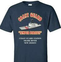 COAST GUARD STATION SHARK RIVER *NEW JERSEY*COAST GUARD VINYL PRINT SHIRT/SWEAT