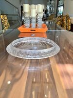 "Signed Lalique Marguerites Centerpiece Glass Crystal Daisies Bowl 14.5"" Damage"