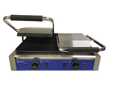 More details for quantum ce ® clamp grill double sided panini press twin contact catering tcgr