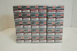 (S) AGFA APX 25 B&W 36 Exp Rolls Lot of 30 - Sealed Expired 2002-2005