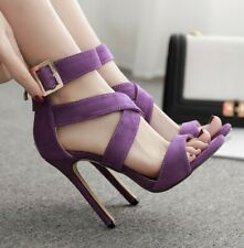 Summer Womens Stiletto High Heels Gladiator Ankle Buckle Sandals Open Toe Shoes