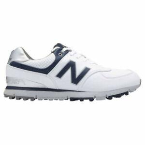 NEW Mens New Balance 574 SL NBG574WN Waterproof Golf Shoes White / Navy 16XW