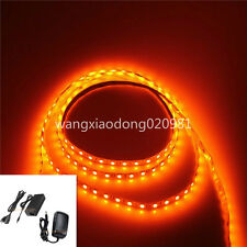 5050 Orange LED Strip 60leds/M Flex Light Lamp NonWaterproof 12V WH XMAS & Power