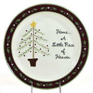 """Grasslands Road PIECE OF HEAVEN 8"""" Dessert Plate Christmas Tree Home A Little"""