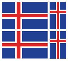 4 X islandés Bandera de Islandia Pegatina de vinilo coche furgoneta Ipad Laptop