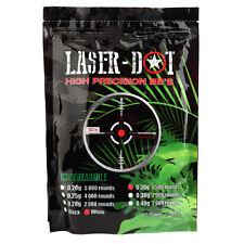 BIO Laser Dot  0.30g 30g Competition Grade Airsoft 6mm BBs (5x2500rd Bag) 12,500