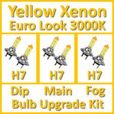 Warm White 3000K Yellow Xenon Headlight Bulb Set Main Dip Fog H7 H7 H7 Kit