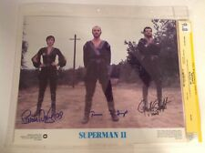 CGC 9.8 SS Superman II 2 Lobby Card signed Stamp Douglas & O'Halloran 1980 11x14