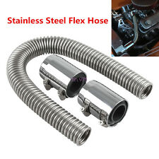 "New 24"" Chrome Stainless Steel Radiator Hose & Radiator Caps Cover Universal Car"
