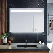 Bathroom LED Mirror Make-up Touch Switch Wall Mounted Anti Fogging 1000x700mm
