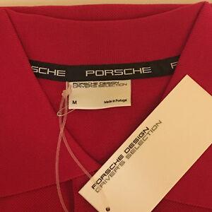 PORSCHE DESIGN DRIVER'S SELECTION NOS RED POLO USA:MEDIUM, EURO:LARGE. NIBWT