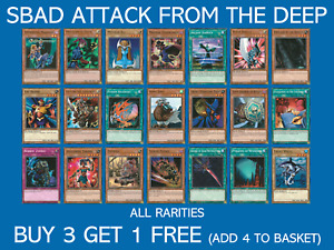 YuGiOh! Attack From The Deep - Choose your card - SBAD - Buy 3 Get 1 Free