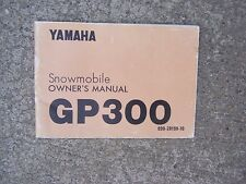 1975 Yamaha Snowmobile GP300 Owner Manual Operation Lubrication Wiring   SS