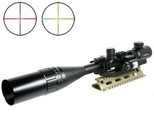 6-24X50 Tactical Rifle Scope R/G Mil-dot w/ PEPR Mount + Sunshade + Laser Sight