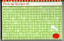"""Red Green Tomato Utensil Kitchen Lined Recipe Card Set 30 Red Green 4"""" x 6"""" NEW"""