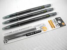 3 Pcs Pilot FriXion Slim 0.38mm Retractable Roller Ball Pen + 3 Refills, BLACK