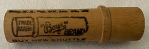 Antique Boye Needle Shuttle, Patent Jan. 26, 1929, Wood Case Only