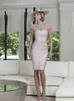 John Charles 26429B Rose Mother of the Bride Wedding Midi Lace Dress UK 12 40