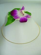 3-fila Reif Collar he 925 plata con 18kt ORO s6gp