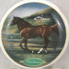 """Danbury Mint """"Whirlaway"""" Horse Plate 1997 Susie Morton Champion Thoroughbreds"""