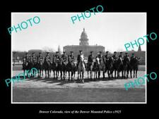 OLD LARGE HISTORIC PHOTO OF DENVER COLORADO, THE MOUNTED POLICE SQUAD c1925