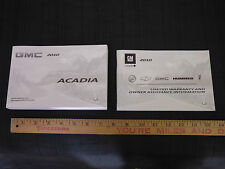 2010 GMC Acadia Original Owners Manual + Warranty BRAND NEW