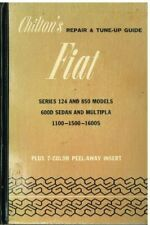 FIAT 600/D 1100 (103D/G/H) 1500 1600S 124 850 COUPE SPIDER 1955-70 REPAIR MANUAL