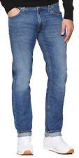 Lee Daren Slim Fit Tapered Jeans Men Light Blue Worn Straight Faded Denim