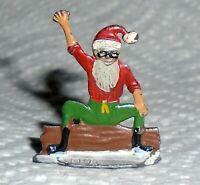 "Vintage Heinrichsen German Flat Lead ""Elf Sitting On Log"" Near Mint Free Ship"