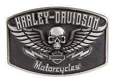Harley-Davidson Guardian Antique Gunmetal Buckle Gürtelschnalle - Schwarz/Grau
