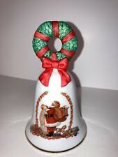 Avon -1995 Christmas Holiday Bell Santa On Bell New In Box Collectible