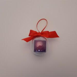 Christmas bauble Decoration / Hanging Decoration drop box fortnight purple cube