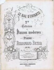 Le Bal D'Enfants, Danses Moderns, No 4 Polka, Ferd Beyer, Antique Sheet Music